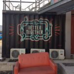 Better Together - Bemalung auf einem Container im Village Underground Lissabon