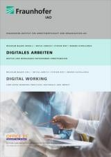Studie Digitales Arbeiten - Fraunhofer IAO