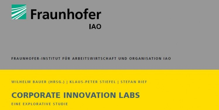 Cover Corporate Innovation Labs Studie